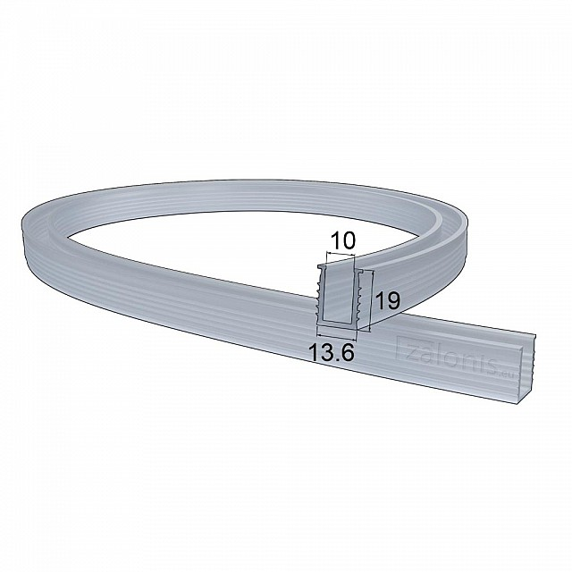 U SHAPE RUBBER PROFILE 10mm